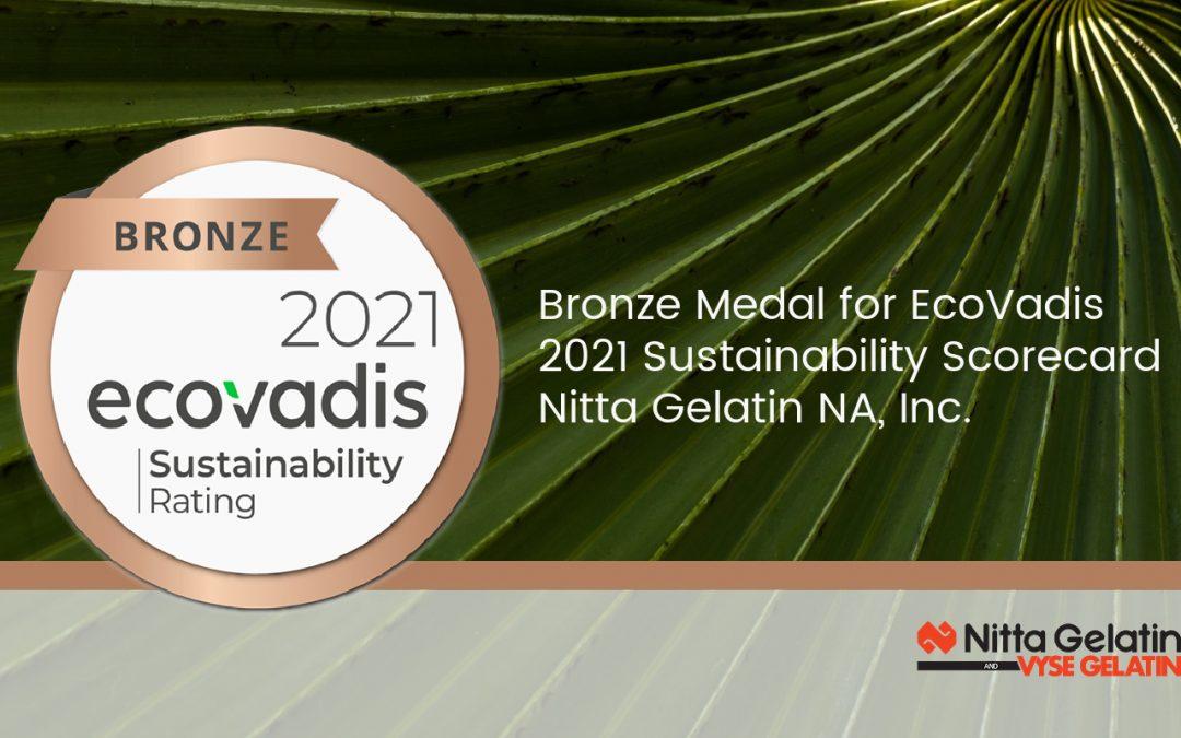 Nitta Gelatin NA Awarded EcoVadis Bronze Medal