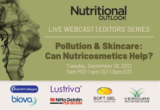 "Nitta Gelatin sponsors Nutritional Outlook's live webcast ""Pollution & Skincare"""